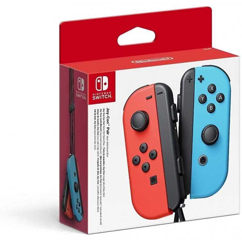 Nintendo Switch Paire de manettes Joy-Con - bleu /rouge - Accessoires - gamezone