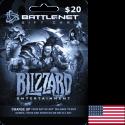 Blizzard Gift Card 20 USD - Battle.net Key - UNITED STATES en Tunisie