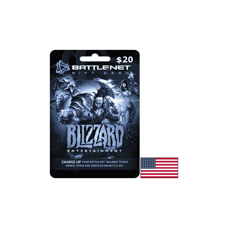 Blizzard Gift Card 20 USD - Battle.net Key - UNITED STATES - Gift Cards - gamezone
