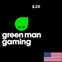 Green Man Gaming USD 20 Gift Card en Tunisie