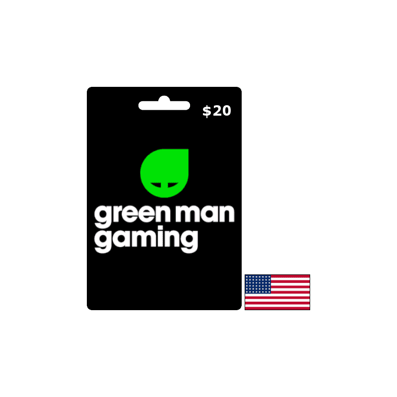 Green Man Gaming USD 20 Gift Card - Gift Cards - gamezone