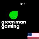 Green Man Gaming USD 30 Gift Card en Tunisie