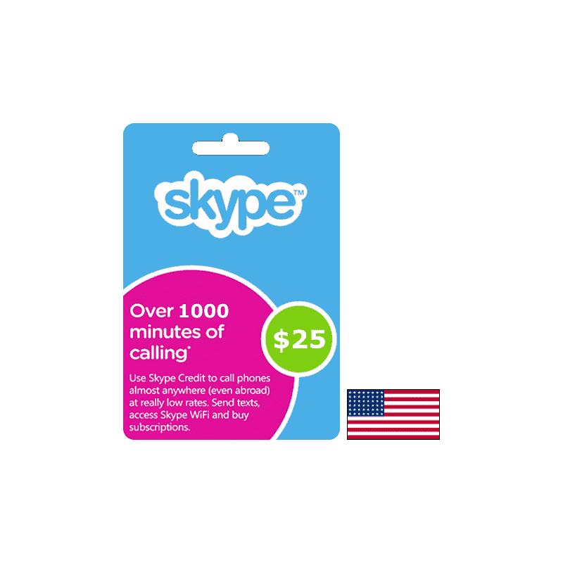 Carte Skype USA USD 25 - Gift Cards - gamezone