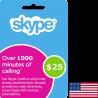 Carte Skype USA USD 25 en Tunisie