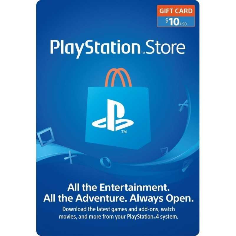 Carte PSN 10$ Playstation Store PS4/PS3/PS Vita Compte US - CARTES PSN - gamezone