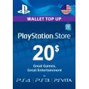 Carte PSN 20$ Playstation Store PS5/PS4/PS3/PS Vita Compte US en Tunisie