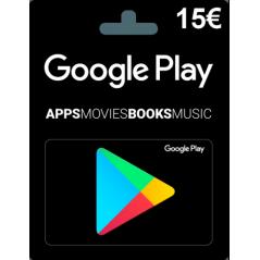 Carte cadeau Google Play 15...