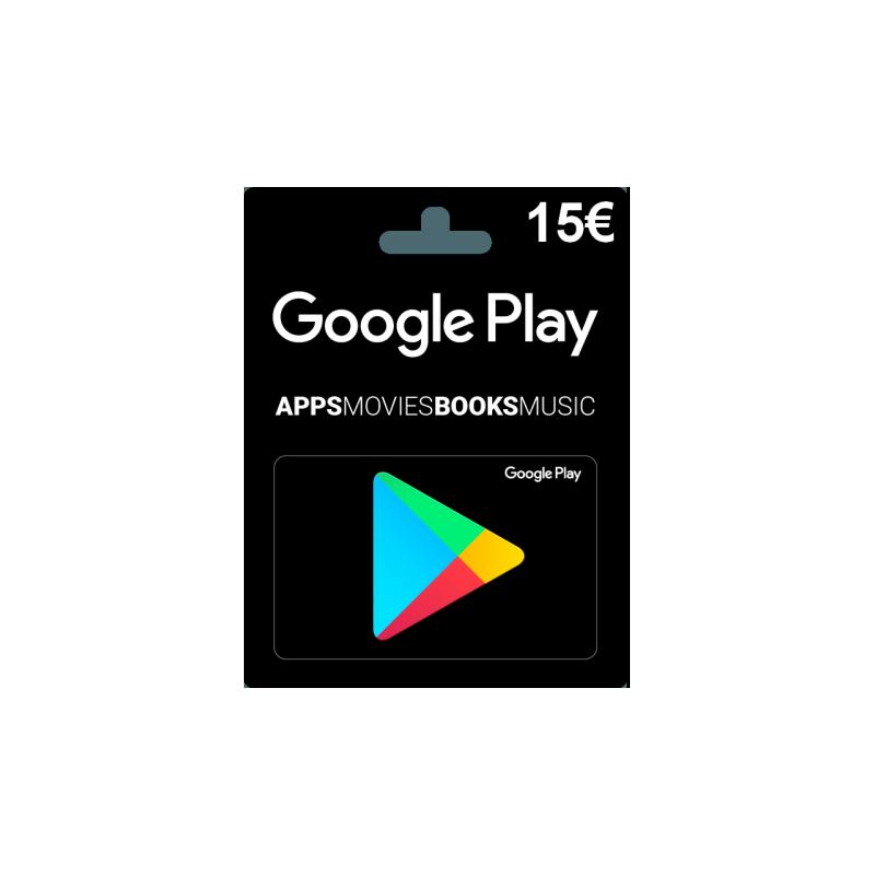 Carte cadeau Google Play 15 euros FR en Tunisie