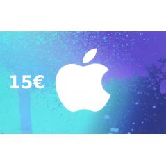Carte App Store & iTunes de 15 € FR en Tunisie