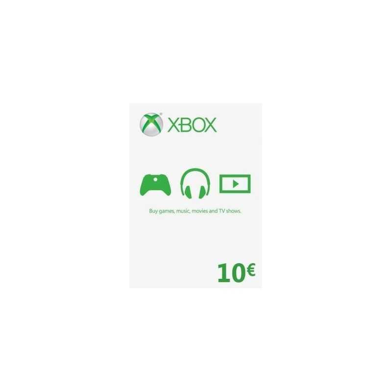 Xbox Gift Card 10€ (zone Euro) - Xbox Live - gamezone