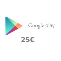 Carte cadeau Google Play 25...