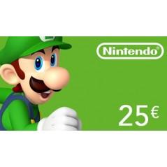 Carte Nintendo eShop 25€