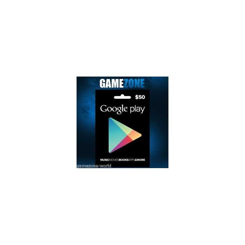Carte cadeau Google Play $50 USA - Gift Cards - gamezone