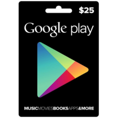 Carte cadeau Google Play $25 USA en Tunisie