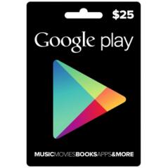 Carte cadeau Google Play...