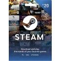 Steam Gift Card 20 USD Steam Key en Tunisie