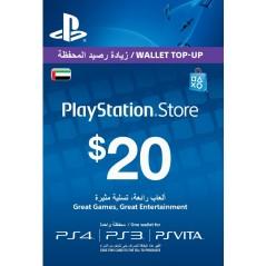 Carte Playstation Network $20 UAE الإمارات العربية المتحدة en Tunisie