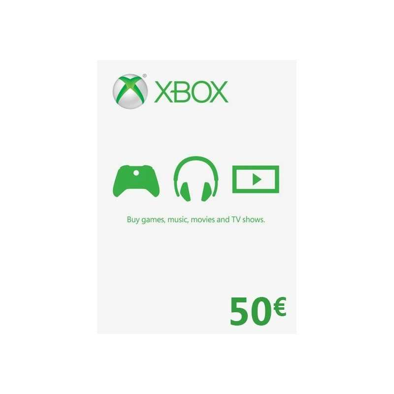 Xbox Gift Card 50€ (zone Euro) en Tunisie