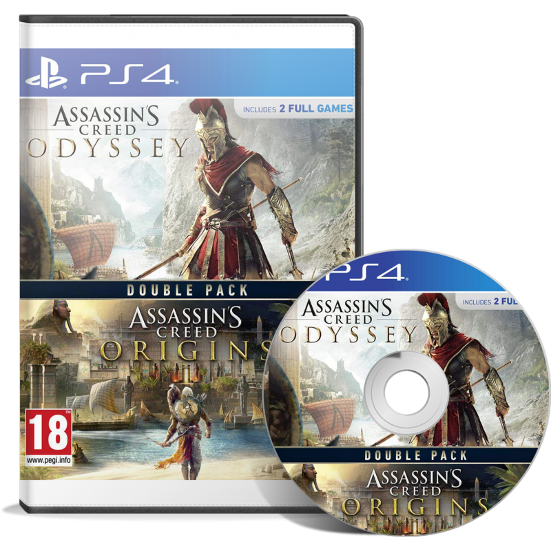 Double Pack Assassin's Creed Origins + Assassin's Creed Odyssey - JEUX PS4 - gamezone