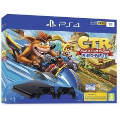 Pack PS4 1 To Noire + Crash Team Racing + 2ème manette DualShock 4 Noire V2 en Tunisie