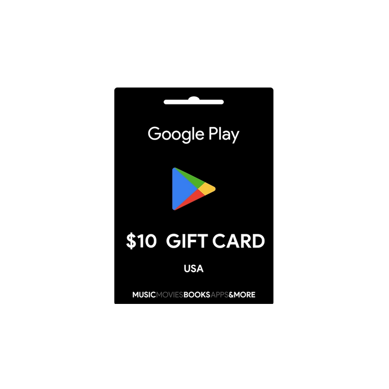 Carte cadeau Google Play $10 USA - Gift Cards - gamezone