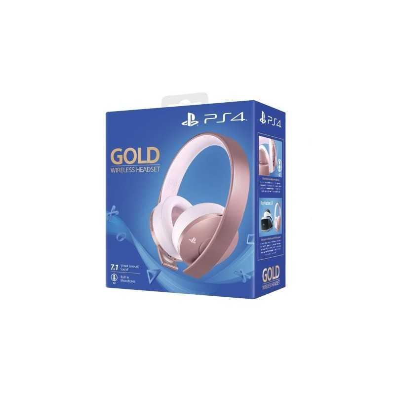 PlayStation Casque-Micro Sans Fil PS4, Audio 3D, Édition Gold, Or Rose - Accessoires - gamezone