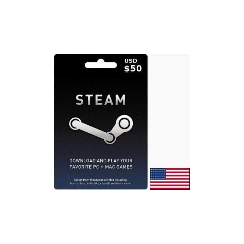 STEAM USA USD 50 Steam Key - Gift Cards - gamezone