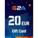 G2A Gift Card 20 EUR GLOBAL en Tunisie