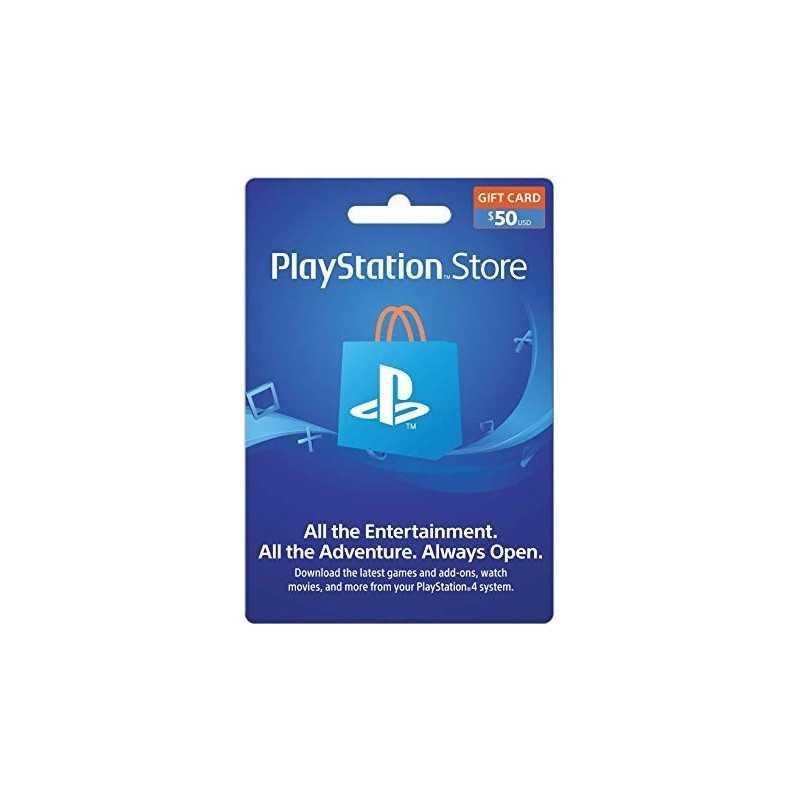 Carte Playstation Network 50$ (US) - CARTES PSN - gamezone