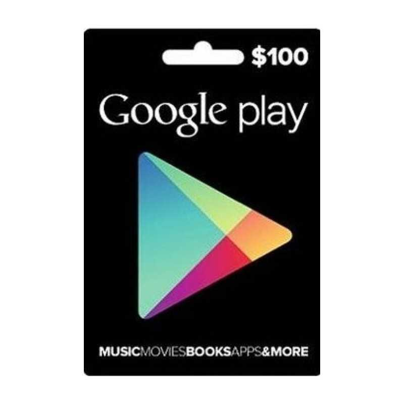 Carte cadeau Google Play $100 dollars USA en Tunisie