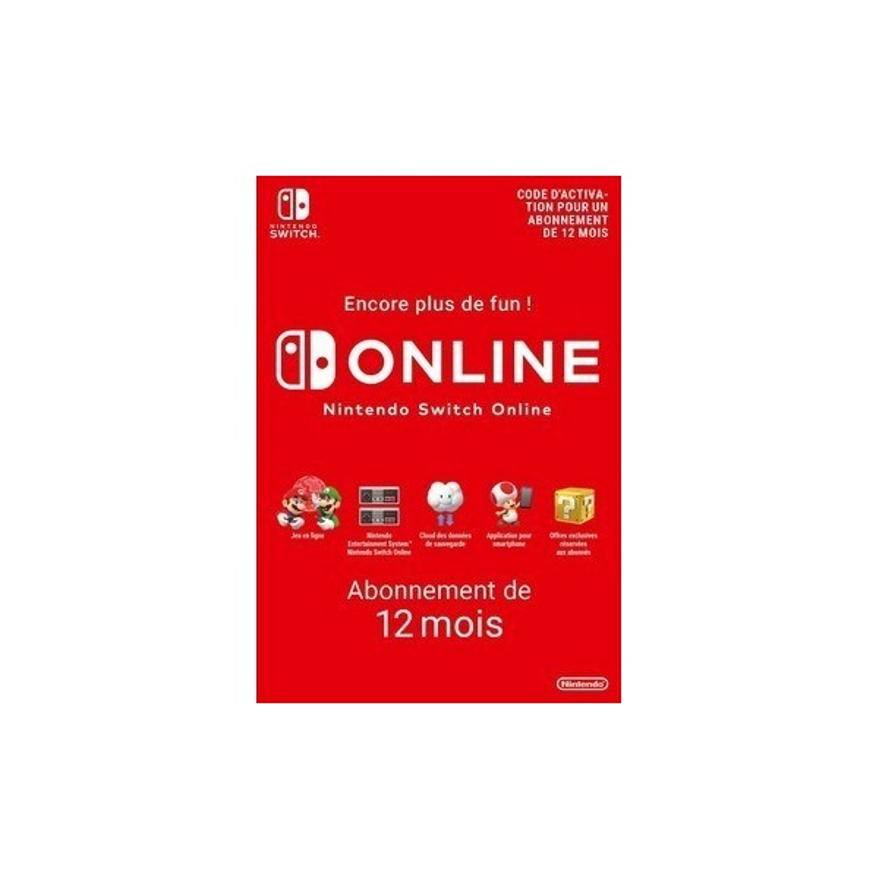 Nintendo Switch Online 12 mois - Jeux Switch - gamezone