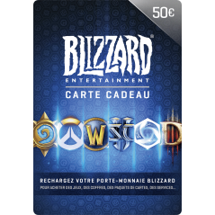 Carte Blizzard 50€ Battle.net en Tunisie