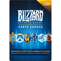 Carte Blizzard 100€ Battle.net en Tunisie