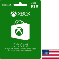 Carte Xbox USA USD 10 dollars en Tunisie