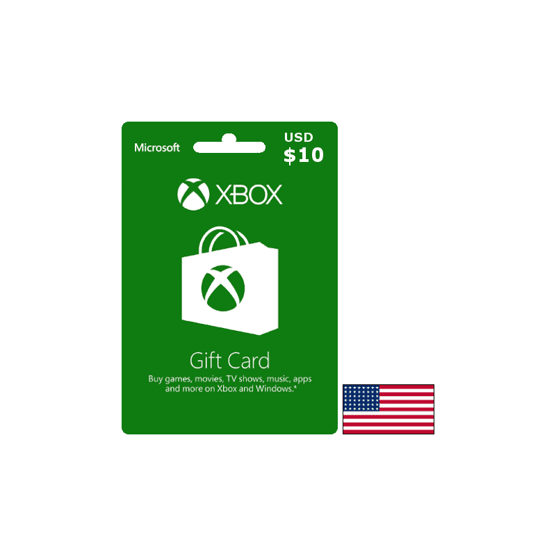 Carte Xbox USA USD 10 dollars - Xbox Live - gamezone