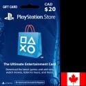 Carte PSN PlayStation Canada 20$ en Tunisie