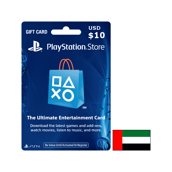 Carte Playstation Network $10 UAE الإمارات العربية المتحدة - CARTES PSN - gamezone