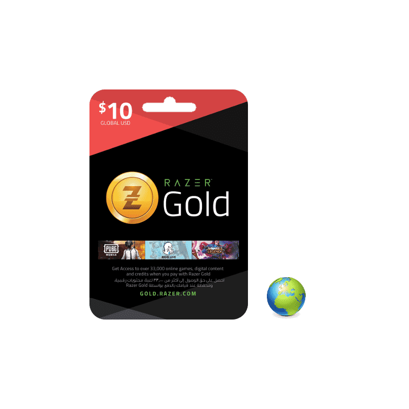 Razer Gold USD 10$ - Gift Cards - gamezone