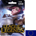 League of Legends EUW EUR 50€ en Tunisie