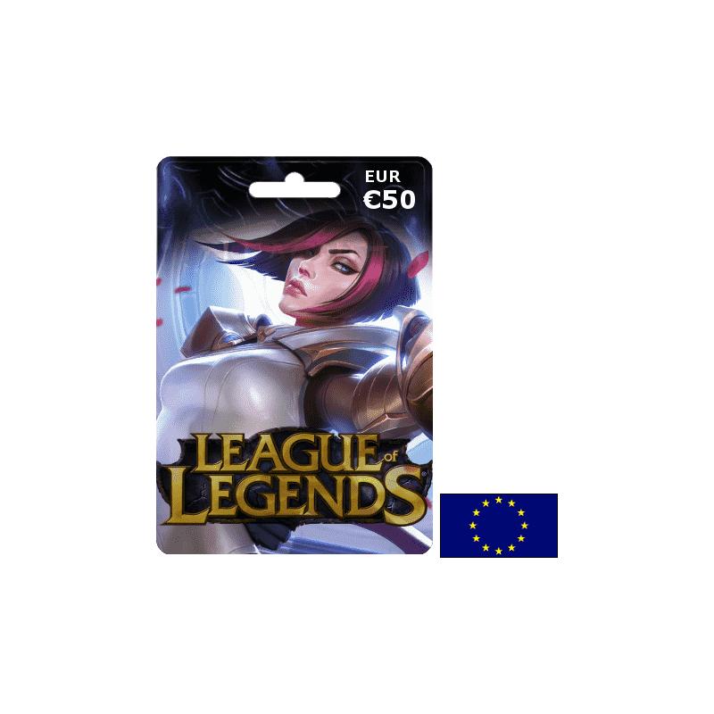 League of Legends EUW EUR 50€ - Gift Cards - gamezone