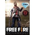 Free Fire MENA 1080 Diamonds en Tunisie