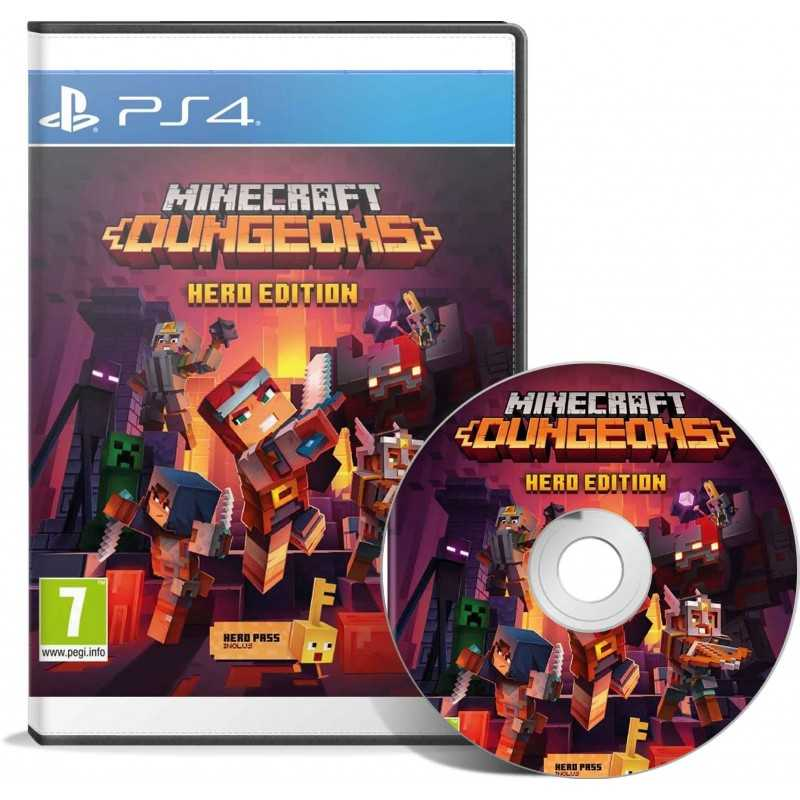 Minecraft Dungeons Hero Edition (PS4) - JEUX PS4 - gamezone