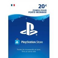 Carte PSN 20 EUR Playstation Store PS5/PS4/PS3/PS Vita Compte français en Tunisie