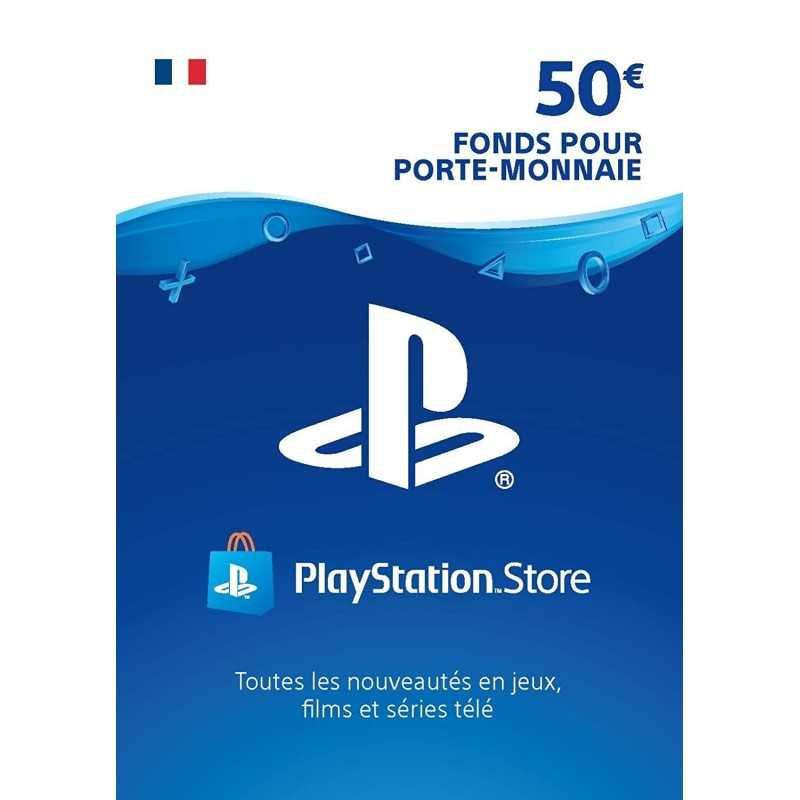 Carte PSN 50 EUR Playstation Store PS4/PS3/PS Vita Compte français - CARTES PSN - gamezone