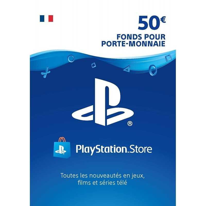 Carte PSN 50 EURO Playstation Store PS5/PS4/PS3/PS Vita Compte français - CARTES PSN - gamezone