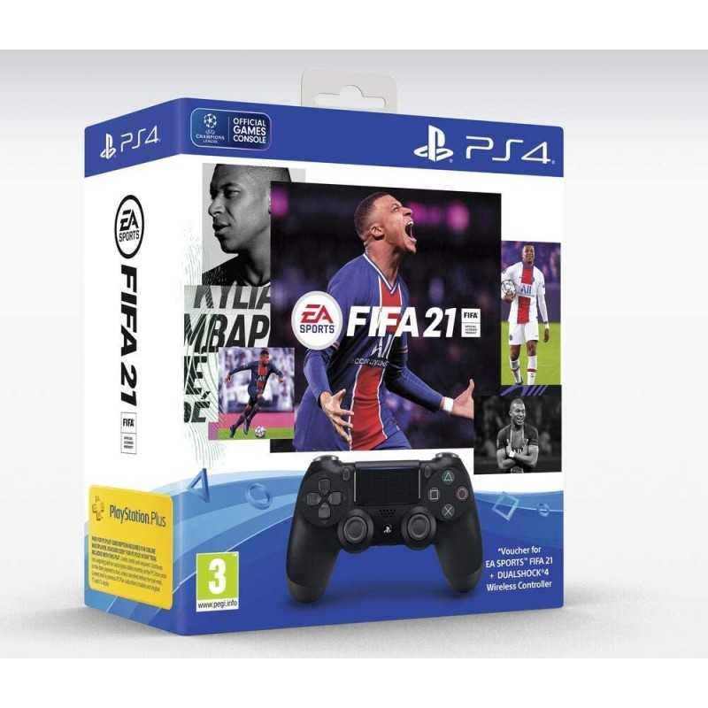 Manette Dual Shock 4 Noir V2 pour PS4 + FIFA 21digital Francais - Accessoires - gamezone