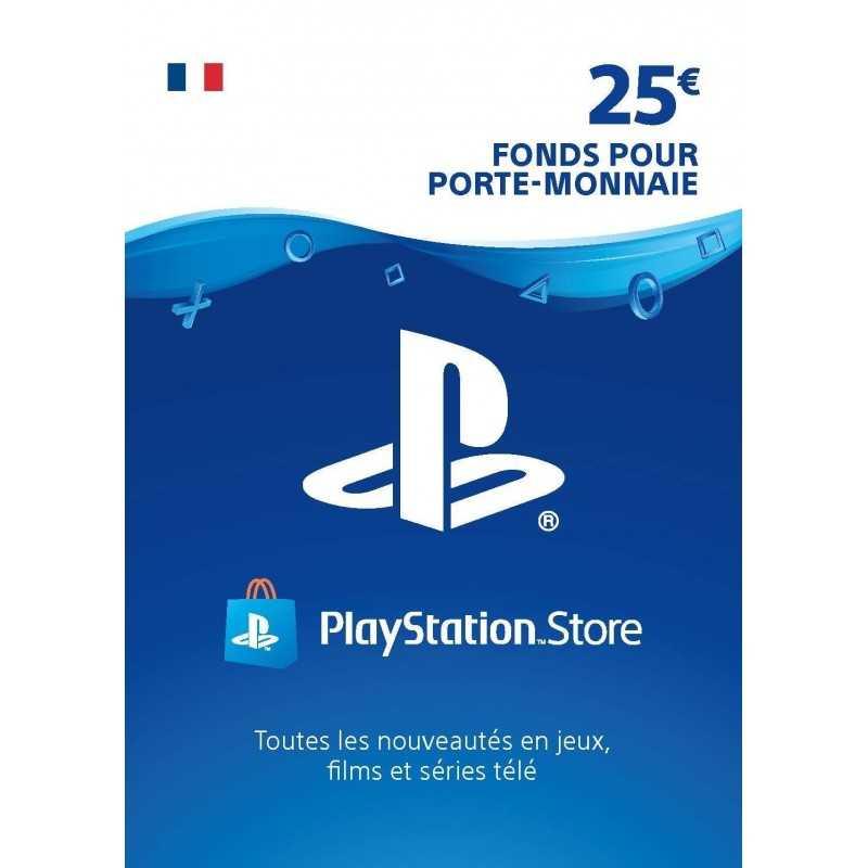 Carte PSN 25 EUR Playstation Store PS5/PS4/PS3/PS Vita Compte français - CARTES PSN - gamezone