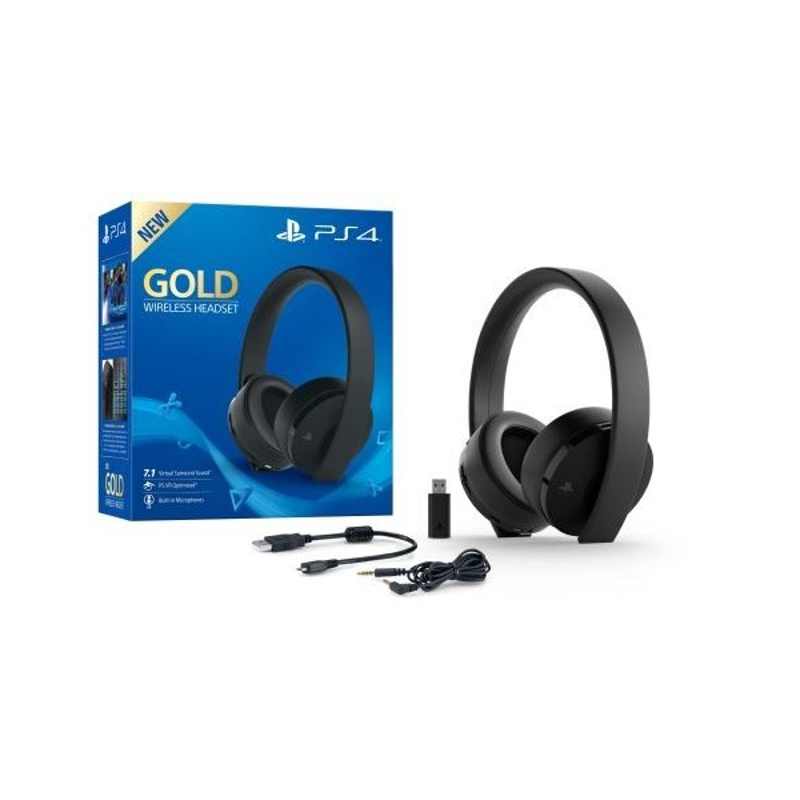 Casque PS4 sans fil - Gold Edition Noire - Accessoires - gamezone