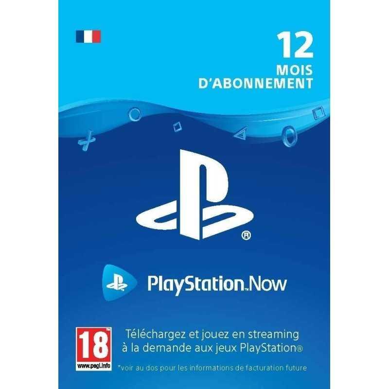 Sony PlayStation Now abonnement de 12 mois - CARTES PSN - gamezone