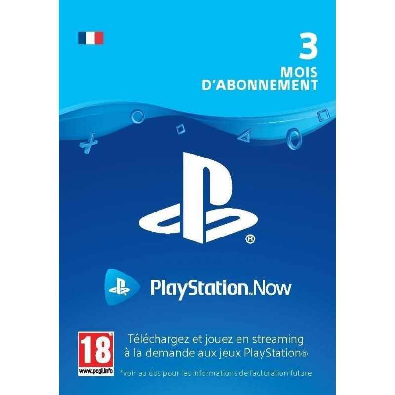 Sony PlayStation Now abonnement de 3 mois - CARTES PSN - gamezone